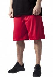 Pánske kraťasy URBAN CLASSICS Bball Mesh Shorts red
