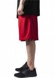 Pánske kraťasy URBAN CLASSICS Bball Mesh Shorts red #1