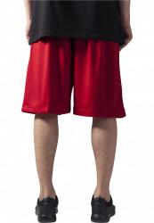 Pánske kraťasy URBAN CLASSICS Bball Mesh Shorts red #2