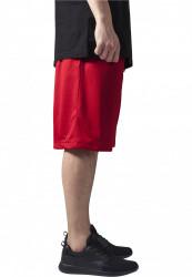 Pánske kraťasy URBAN CLASSICS Bball Mesh Shorts red #3