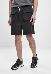 Pánske kraťasy Urban Classics Big Pocket Terry Sweat Shorts black