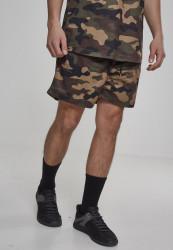 Pánske kraťasy Urban Classics Camo Mesh Shorts woodcamo