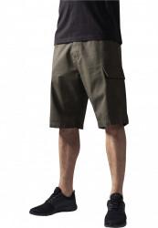 Pánske kraťasy URBAN CLASSICS Camouflage Cargo Shorts olive