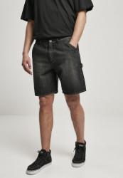 Pánske kraťasy URBAN CLASSICS Carpenter Jeans real black washed