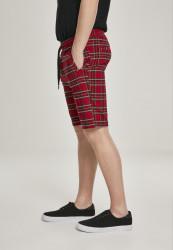 Pánske kraťasy URBAN CLASSICS Checker Shorts red/blk #1