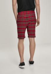 Pánske kraťasy URBAN CLASSICS Checker Shorts red/blk #2