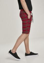 Pánske kraťasy URBAN CLASSICS Checker Shorts red/blk #3