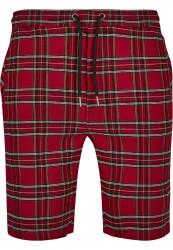 Pánske kraťasy URBAN CLASSICS Checker Shorts red/blk #4