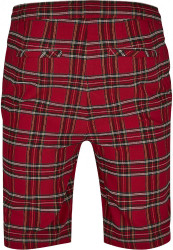 Pánske kraťasy URBAN CLASSICS Checker Shorts red/blk #5