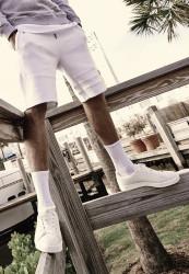 Pánske kraťasy URBAN CLASSICS Heavy Pique Shorts biele