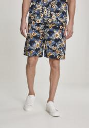 Pánske kraťasy URBAN CLASSICS Pattern Resort Shorts hibiscus