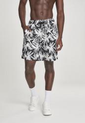 Pánske kraťasy URBAN CLASSICS Pattern Resort Shorts palm/white
