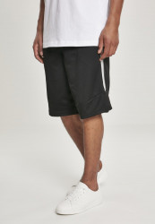 Pánske kraťasy URBAN CLASSICS Side Taped Mesh Shorts blk/gry