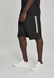Pánske kraťasy URBAN CLASSICS Side Taped Mesh Shorts blk/multicolor