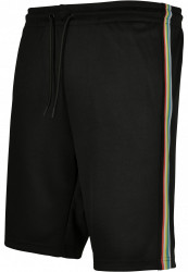 Pánske kraťasy URBAN CLASSICS Side Taped Track Shorts blk/multicolor