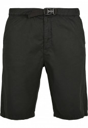 Pánske kraťasy URBAN CLASSICS Straight Leg Chino Shorts with Belt black