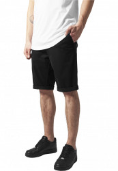 Pánske kraťasy URBAN CLASSICS Stretch Turnup Chino Shorts black