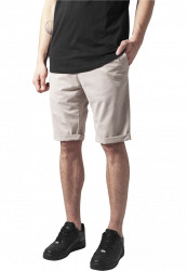 Pánske kraťasy URBAN CLASSICS Stretch Turnup Chino Shorts sand