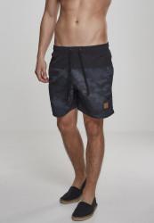 Pánske kúpacie kraťase Urban Classics Block Swim Shorts blk/darkcamo
