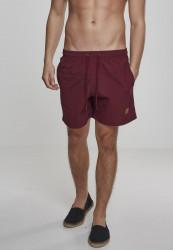 Pánske kúpacie kraťase Urban Classics Block Swim Shorts cherry