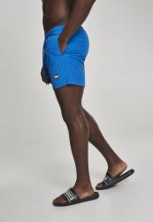 Pánske kúpacie kraťase Urban Classics Block Swim Shorts cobalt blue #1