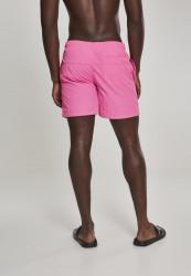 Pánske kúpacie kraťase Urban Classics Block Swim Shorts neonpink #2