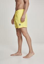 Pánske kúpacie kraťase Urban Classics Block Swim Shorts neonyellow #1