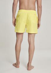 Pánske kúpacie kraťase Urban Classics Block Swim Shorts neonyellow #2
