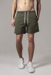 Pánske kúpacie kraťase Urban Classics Block Swim Shorts olive/olive