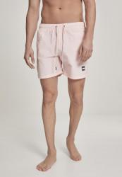 Pánske kúpacie kraťase Urban Classics Block Swim Shorts pink
