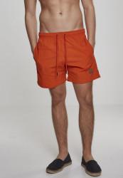 Pánske kúpacie kraťase Urban Classics Block Swim Shorts rustorange