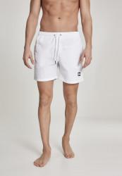 Pánske kúpacie kraťase Urban Classics Block Swim Shorts white