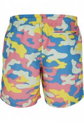 Pánske kúpacie kraťase URBAN CLASSICS Camo Swimshorts happy camo #5
