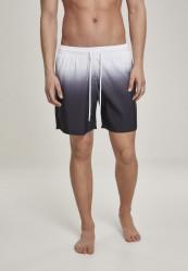 Pánske kúpacie kraťase Urban Classics Dip Dye Swim Shorts wht/blk