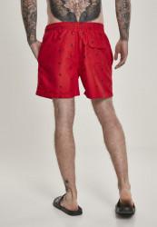 Pánske kúpacie kraťase Urban Classics Embroidery Swim Shorts leaf/firered/navy #2