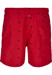 Pánske kúpacie kraťase Urban Classics Embroidery Swim Shorts leaf/firered/navy #6