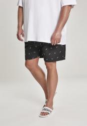 Pánske kúpacie kraťase Urban Classics Embroidery Swim Shorts shark/black/white