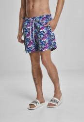 Pánske kúpacie kraťase URBAN CLASSICS Multicolor Swim Shorts blue/pink