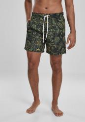 Pánske kúpacie kraťase URBAN CLASSICS Paisley Swim Shorts paisley