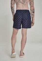 Pánske kúpacie kraťase Urban Classics Pattern Swim Shorts anchor/navy #2