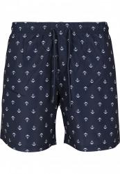Pánske kúpacie kraťase Urban Classics Pattern Swim Shorts anchor/navy #4