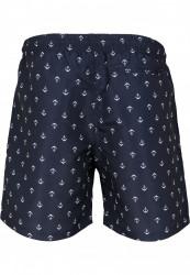 Pánske kúpacie kraťase Urban Classics Pattern Swim Shorts anchor/navy #5