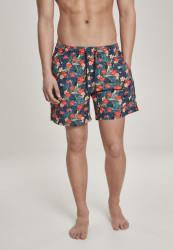 Pánske kúpacie kraťase Urban Classics Pattern Swim Shorts blk/tropical