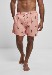 Pánske kúpacie kraťase Urban Classics Pattern Swim Shorts cactus aop