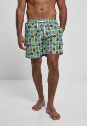 Pánske kúpacie kraťase Urban Classics Pattern Swim Shorts calavera aop