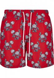 Pánske kúpacie kraťase Urban Classics Pattern Swim Shorts firered/rose #5