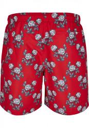 Pánske kúpacie kraťase Urban Classics Pattern Swim Shorts firered/rose #6
