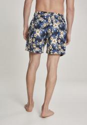 Pánske kúpacie kraťase Urban Classics Pattern Swim Shorts hibiscus #2