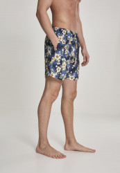 Pánske kúpacie kraťase Urban Classics Pattern Swim Shorts hibiscus #3