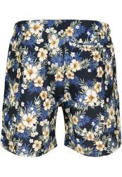 Pánske kúpacie kraťase Urban Classics Pattern Swim Shorts hibiscus #6